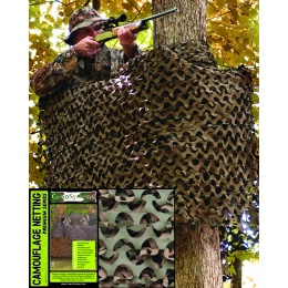 FILET CAMOUFLAGE MILITAIRE BASIC WOOD 2.4 X 3 METRES