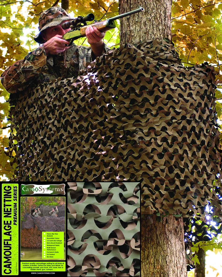 FILET CAMOUFLAGE MILITAIRE ULTRA-LITE 2.4 X 3 METRES