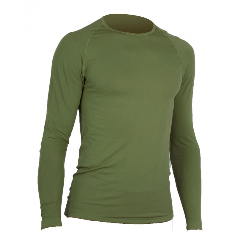 TSHIRT MILITAIRE RESPIRANT ACTIVE LINE SUMMIT VERT OD MANCHES LONGUES