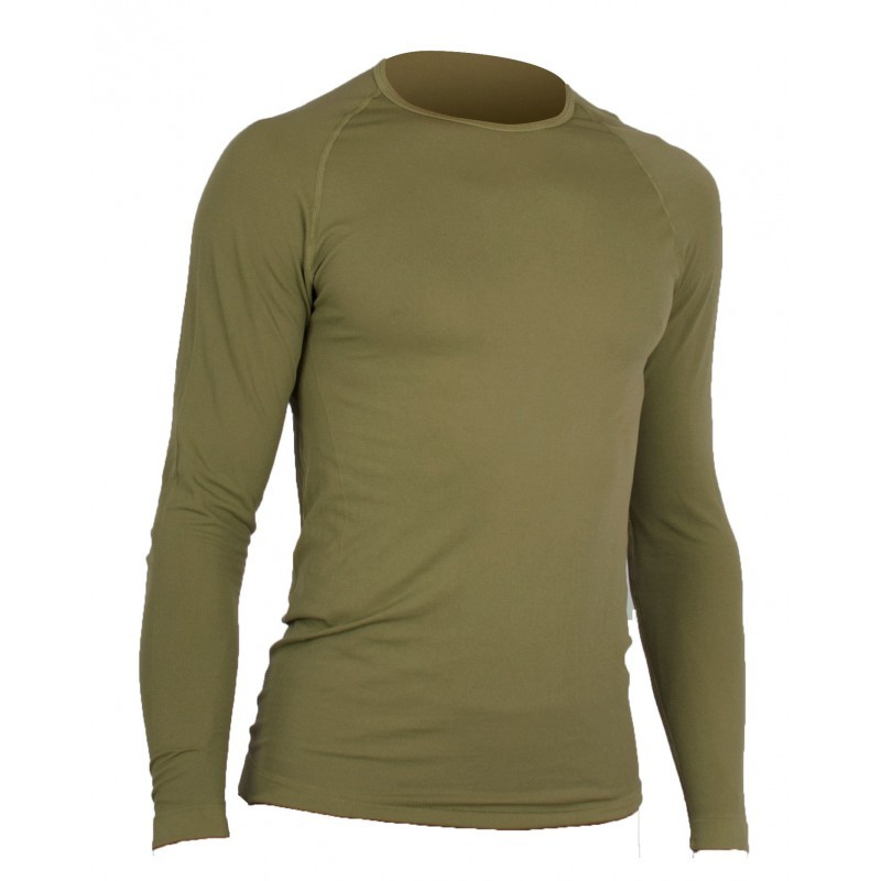 T-SHIRT MILITAIRE RESPIRANT ACTIVE LINE SUMMIT COYOTE MANCHES LONGUES