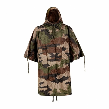 PONCHO MILITAIRE IMPERMEABLE RIPSTOP MULTIFONCTIONS CAM CE