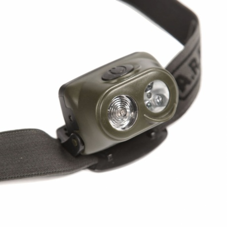 LAMPE FRONTALE MILITAIRE 1 WATT + 4 LEDS ARES CAM CE