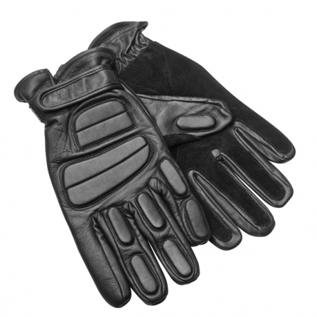 GANTS D'INTERVENTION SWAT CUIR NOIR