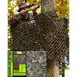 FILET CAMOUFLAGE MILITAIRE BASIC WOOD 3 X 6 METRES