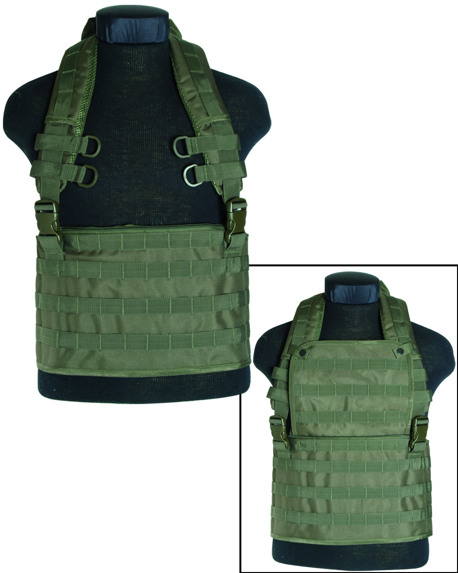 GILET TACTIQUE CHEST RIG MOLLE VERT OD