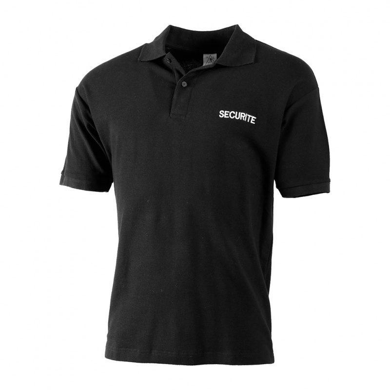 POLO SECURITE COTON NOIR