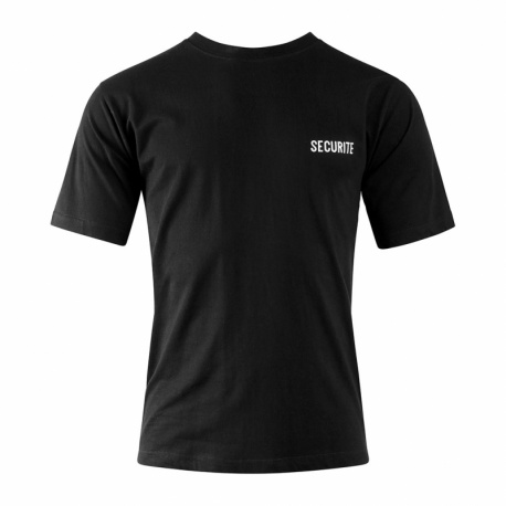 T-SHIRT SECURITE COTON NOIR