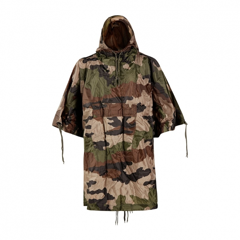 PONCHO MILITAIRE RIPSTOP MULTIFONCTIONS CAM CE