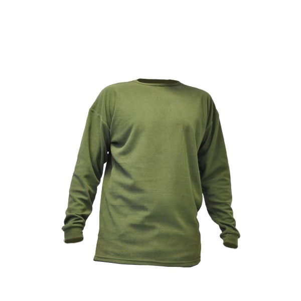 T-SHIRT MILITAIRE MICRO-POLAIRE VERT OD