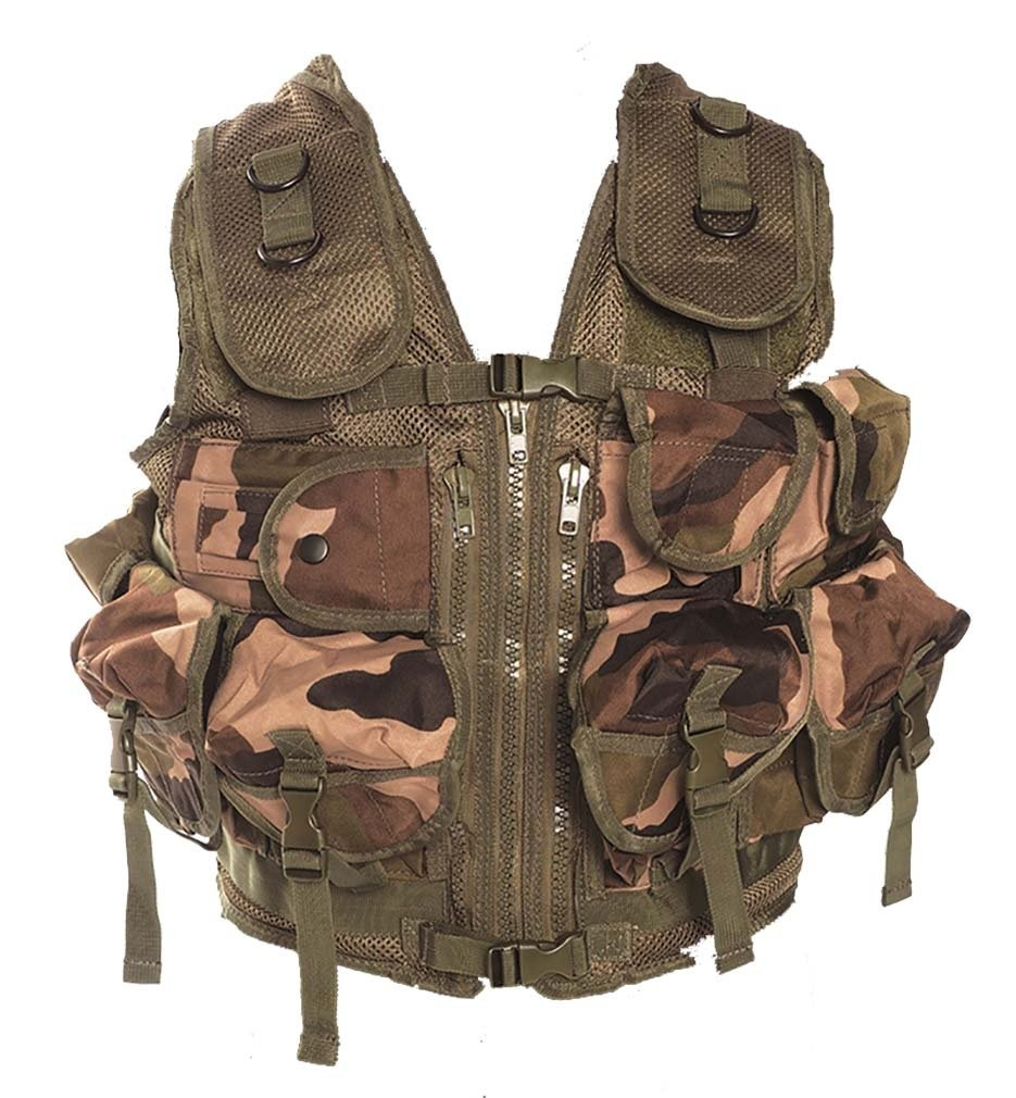 GILET TACTIQUE TACTICAL US 9 POCHES MIL-TEC CAM CE