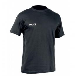 T-SHIRT STRONG POLICE T.O.E. NOIR