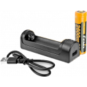 PACK CHARGEUR SIMPLE + ACCU RECHARGEABLE FENIX 18650 3.6V/2600MAH