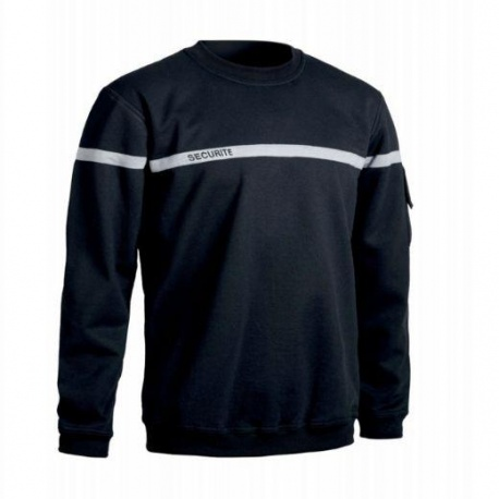 SWEAT-SHIRT SECURITE BANDE GRISE T.O.E.