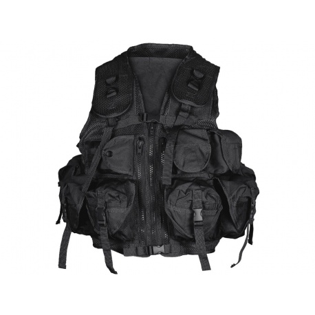 GILET TACTIQUE TACTICAL US 9 POCHES MIL-TEC NOIR