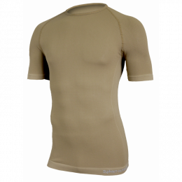 T-SHIRT MILITAIRE RESPIRANT ACTIVE LINE SUMMIT TAN MANCHES COURTES