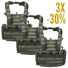 LOT 3 CHEST RIG MKII TASMANIAN TIGER VERT OD