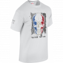 T-SHIRT MILITAIRE FRENCH FOREVER BLANC