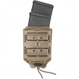 PORTE CHARGEUR DOUBLE VEGA 8BL POUR HK416/FAMAS TAN