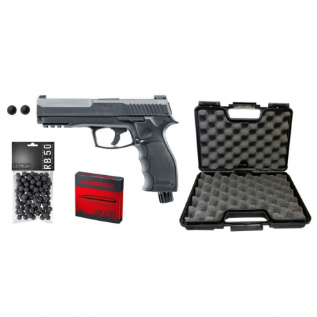 PACK COMPLET PRÊT À TIRER WALTHER T4E HDP CAL. 50 11 JOULES