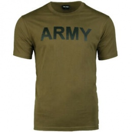 T-SHIRT MILITAIRE ARMY MIL-TEC VERT OD