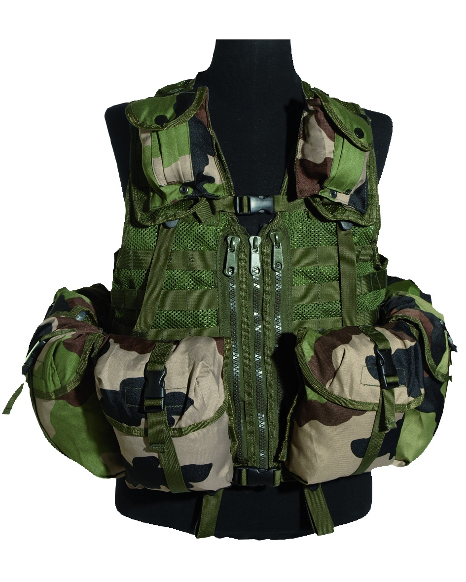 GILET TACTIQUE TACTICAL US 8 POCHES MIL-TEC CAM CE