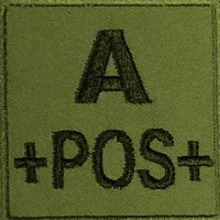 PATCH MILITAIRE A+ VERT OD