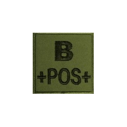 PATCH MILITAIRE B+ VERT OD
