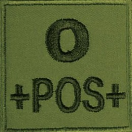 PATCH MILITAIRE O+ VERT OD
