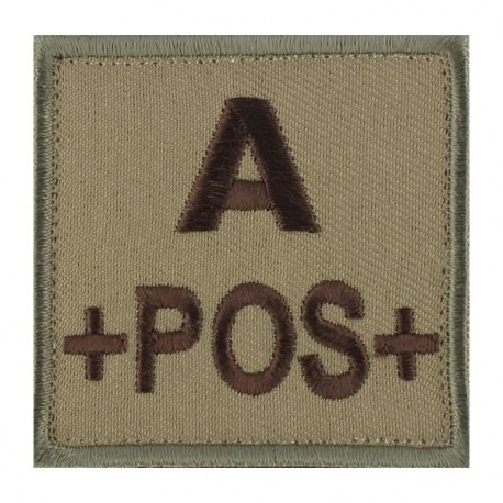 PATCH MILITAIRE A+ DESERT