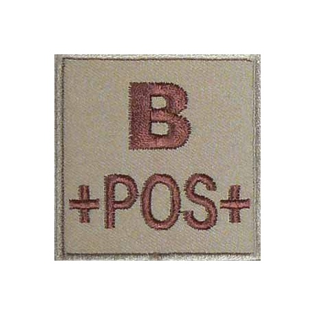 PATCH MILITAIRE B+ DESERT