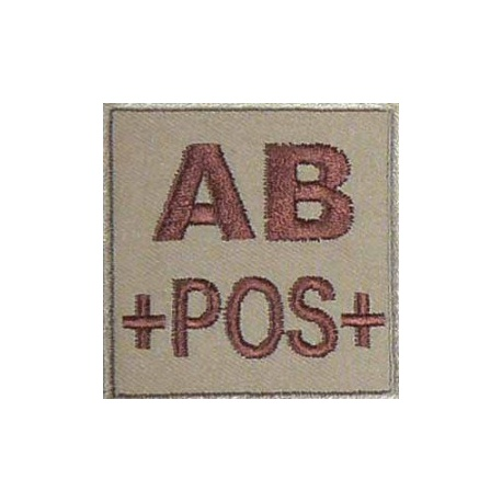 PATCH MILITAIRE AB+ DESERT