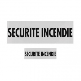 LOT DOSSARD + BANDE POITRINE SECURITE INCENDIE AVEC VELCRO