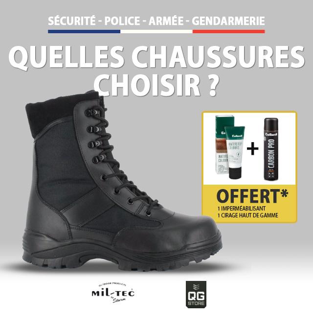 Sécurité, Police, Armée, Gendarmerie : Quelles chaussures